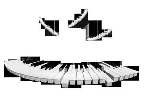 圆弧形的钢琴