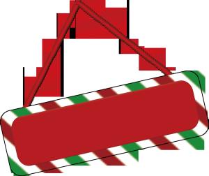 红绿圣诞节可爱背景板