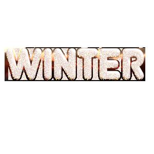 winter冬季艺术字