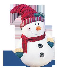 白色雪人图片素材