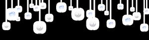 圣诞白色坠饰水晶球
