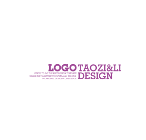 logo字体版式设计装饰背景