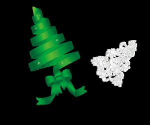 圣诞绿色白色素材
