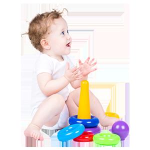 可爱宝宝玩玩具母婴素材