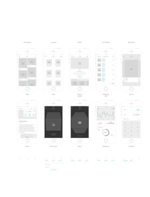 手机app线框图ai矢量合集