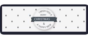 清新圣诞节banner矢量