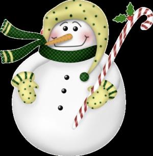 手绘白色圣诞雪人