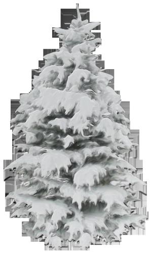 冬天白雪圣诞树