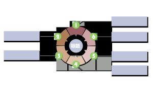 清新简约流程结构图