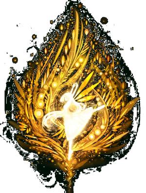金色光中跳舞的少女