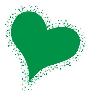 矢量绿色爱心图片