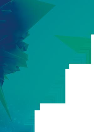 炫彩几何方块半透明背景