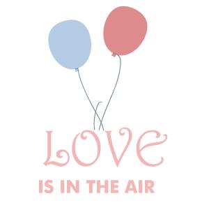 气球情人节卡片