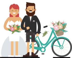 创意自行车婚礼小人