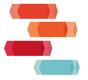 矩形立体PPT装饰图案