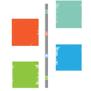 时间轴式对话框PPT装饰图案 时间轴psd