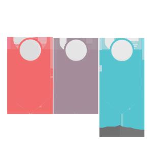 圆形与箭头形简洁PPT装饰图案