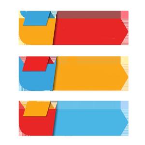彩色多边形PPT装饰图案