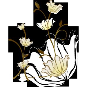 淡白树枝装饰图