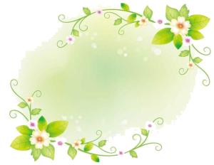 绿色带藤曼背景图案