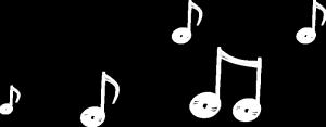 白色音符背景