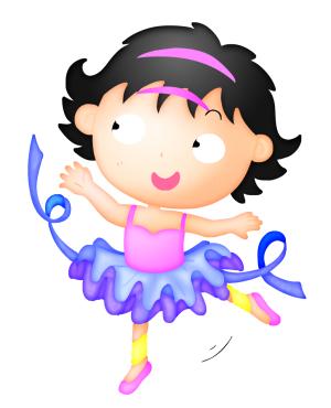 跳芭蕾的女孩图片素材