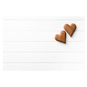 爱心白色木板背景