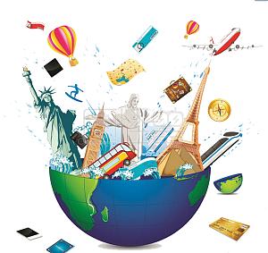 世界旅行创意元素