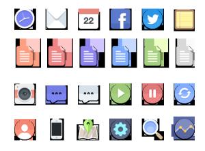 网页APP界面UI图标icon