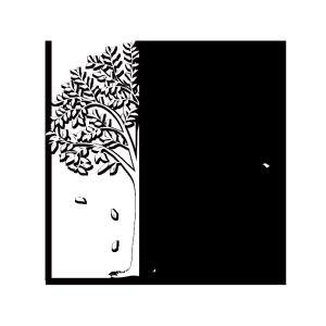 黑白树PSD带路径