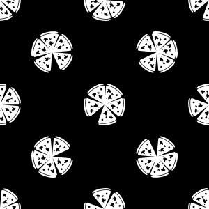 白色披萨背景
