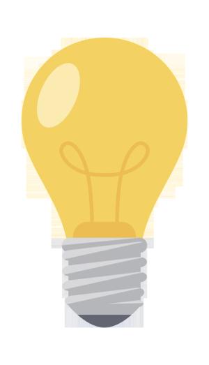 黄色立体家居家电灯泡卡通手绘