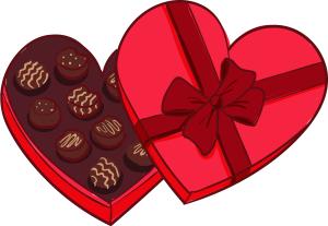 爱心巧克力礼物盒