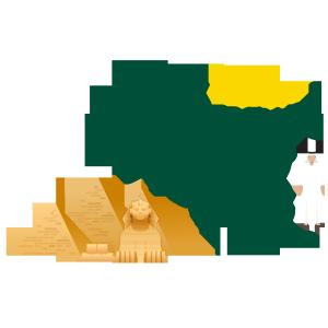 旅游热门城市—埃及矢量艺术字