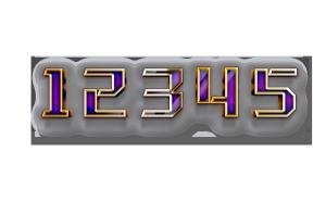3D数字金属立体字
