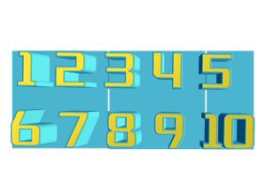 3D橡皮数字立体字