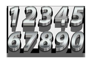 银色3D立体数字