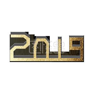2019金色立体艺术字