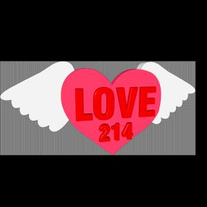 LOVE立体字体C4D创意红色字体爱心3d天使的翅膀