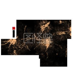 春节黑色毛笔艺术字