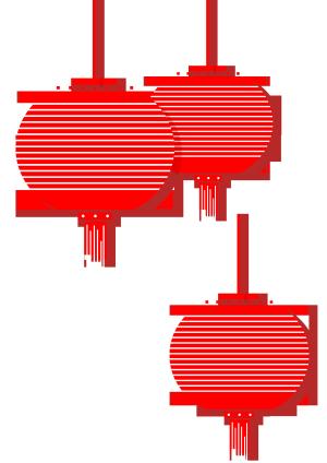 节日灯笼免抠PSD素材