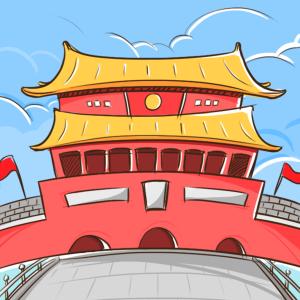 北京风景可爱漫画