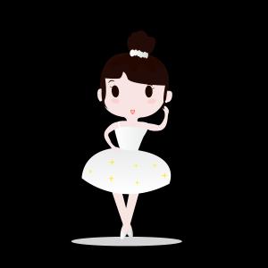 扁平风芭蕾跳舞女孩矢量图