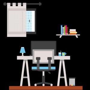 创意矢量办公室办公桌元素