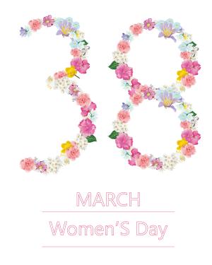 花朵集38妇女节海报