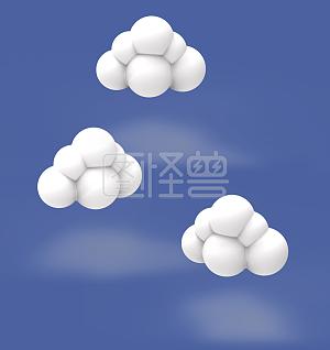 六一儿童节童趣云朵3D立体云朵