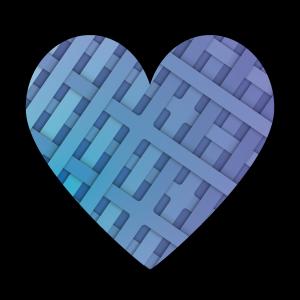 蓝色创意编织的爱