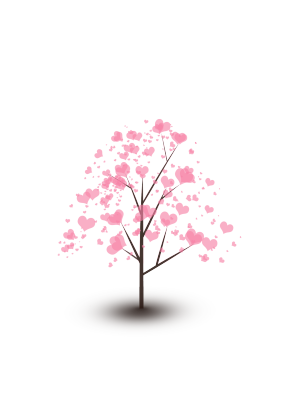 情人节粉色爱心小树