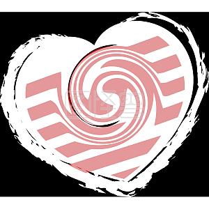粉色糖果色阿尔卑斯色心形元素背景免抠素材