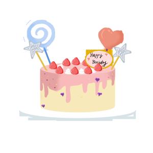 童趣草莓生日蛋糕